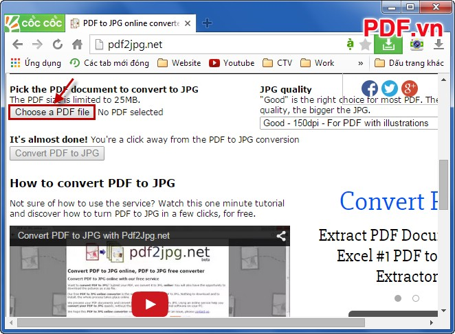 Choose a PDF file